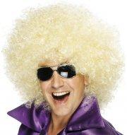 Perruque Mega-Afro Blond Platine