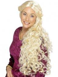 Perruque Dame Médievale Guenievre blonde