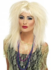 Perruque Blonde gauffrée années 80