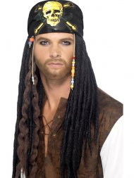 Perruque Pirate avec Bandana et Dreadlocks