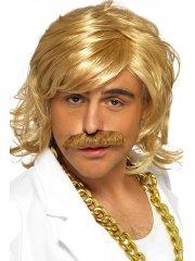 Perruque et Moustache de Star du Dancefloor