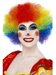 Perruque de clown multicolore