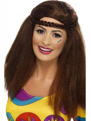 Perruque Hippie avec tresse Femme 60 s