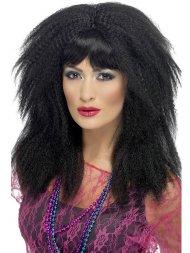 Perruque Noire Typique années 80