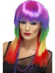Perruque Rock Multicolore femme 80's