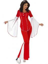 Déguisement Disco rouge femme 70's