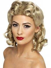 Perruque blonde Bouclée Mi-longue