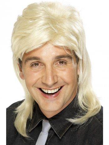 Perruque Mulet blonde 80 s