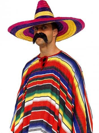 Large Sombrero Multicolore