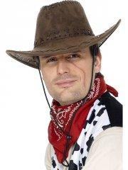 Chapeau de Cowboy Suédine Brun