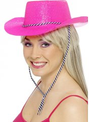 Chapeau de Cow Girl Rose-Fluo Brillant