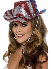 Chapeau de Cow Girl Drapeau Américain
