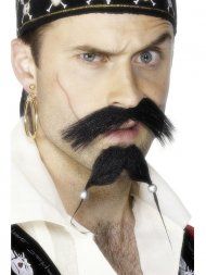 Moustache et bouc de Pirate