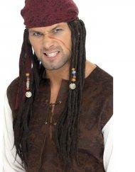 Bandana avec tresses de Pirate