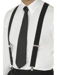 Bretelles élastiques noires