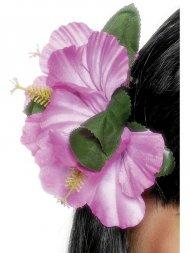Barrette Hawaïenne fleur rose