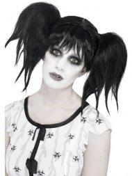 Perruque Halloween Doll Noir - Abby