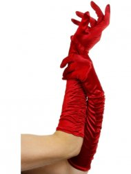 Gants Longs Tentation - Rouge