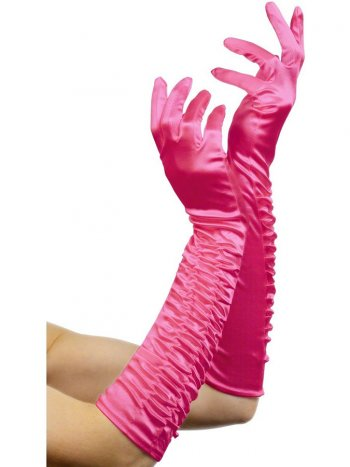 Gants Longs Tentation - Rose Fuchsia