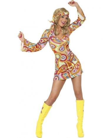 Déguisement 60 s Hippie Sexy Chick