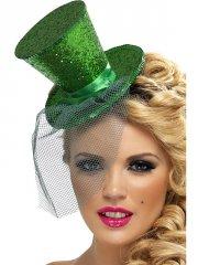 Mini-chapeau Vert sur Serre-Tête