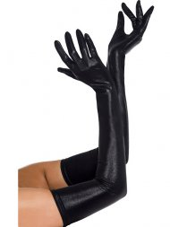 Gants Longs Brillants - Noir
