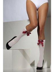Chaussettes Montantes Blanches à Noeud