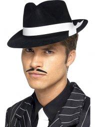 Chapeau Gangster Noir et Blanc
