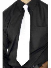 Cravate blanche de Gangster Luxe