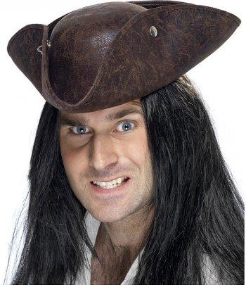 Tricorne Pirate Cuir Vieilli