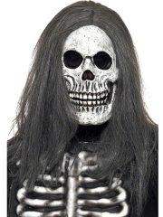 Masque Squelette aux Cheveux gris