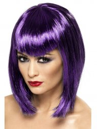 Perruque Vamp Violette avec frange