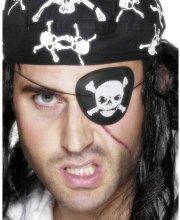 Cache-oeil Pirate Tête de Mort
