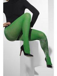 Collants Opaques Vert Glitter (Paillettes)
