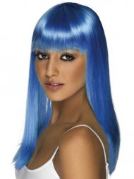 Perruque Glamourama Bleue électrique