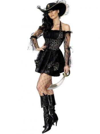 Déguisement Pirate Sexy Noir et Or