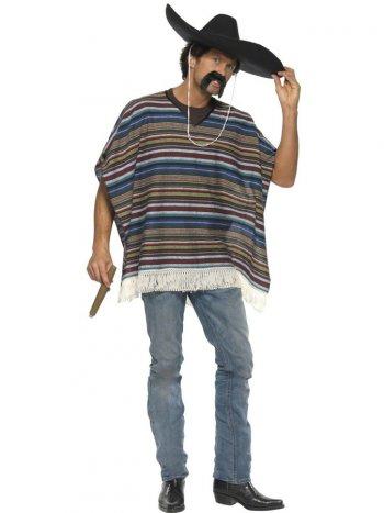 Authentique Poncho Mexicain