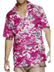 Chemise Hawaïenne rose