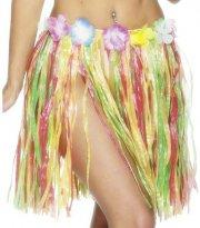 Jupe Hawaïenne courte à franges multicolores