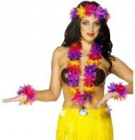 Set Hawaïenne à fleurs multicolores