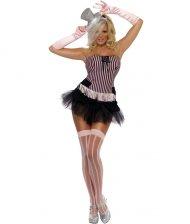 Déguisement de Miss Burlesque Rose et Noir