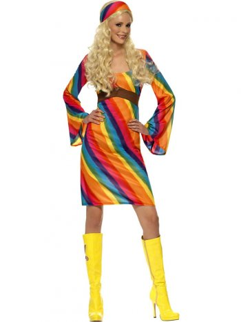 Déguisement de Hippie Rainbow