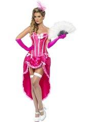 Déguisement de Danseuse Burlesque Rose