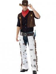Déguisement de Cowboy à Chaps Blanc