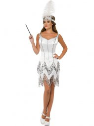 Robe de Spectacle Blanche 20's