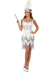 Robe de Spectacle Blanche 20's