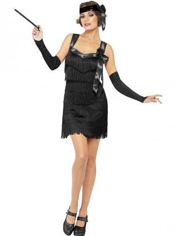 Robe Années Folles Noire 20 s