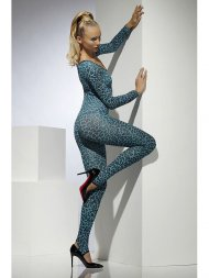 Body Combinaison Leopard Bleu