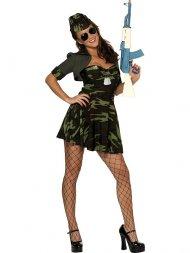 Déguisement de Femme Militaire Sexy