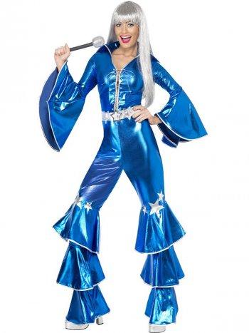 Déguisement Dancing Dream Disco bleu 70 s